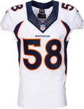 Football Collectibles:Uniforms, 2015 Von Miller Game Worn & Signed Denver Broncos Jersey - Photo Matched to 11/8 vs. Colts. ...