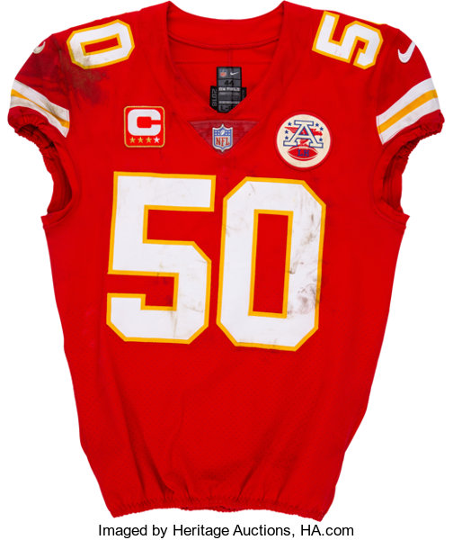 reputable site 8090b 106df 2019 Justin Houston Game Worn & Unwashed Kansas City Chiefs Jersey -  Photo-Matched & Used in AFC Divisional Playoffs vs. Colt...