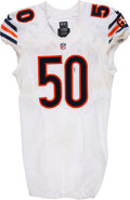 Football Collectibles:Uniforms, 2016 Jerrell Freeman Game Worn & Unwashed Chicago Bears Jersey Photo Matched to 10/9 vs. Colts. ...