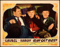 """Movie Posters:Comedy, Way Out West (MGM, 1937). Very Fine-. Lobby Card (11"""" X 14"""").. ..."""