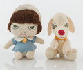 Collectible:Contemporary, Yoshitomo Nara X Sun Arrow. Walk On (Doll and Dog), 2002. Polyester plush toy. 8 x 6 x 4 inches (20.3 x 15.2 x 10.2 cm) ... (Total: 2 Items)
