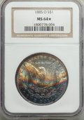 1885-O $1 MS64★ NGC. NGC Census: (94564/35097 and 561/318*). PCGS Population: (76662/24570 and 561/318*). MS64. Mintage...