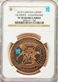 Great Britain: Elizabeth II gold Proof 5 Pounds 2010 PR70 Ultra Cameo NGC