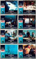 "Movie Posters:Horror, Jaws (Universal, 1975). Very Fine+. Lobby Card Set of 8 (11"" X 14""). Roger Kastel Artwork.. ... (Total: 8 Items)"