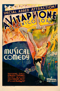 "Vitaphone Short Subject (Warner Bros., 1939). Fine+ on Linen. Trimmed Stock One Sheet (26.25"" X 40"")"