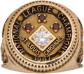 Baseball Collectibles:Others, 1987 St. Louis Cardinals National Champions Ring Presented to Buddy Bates....