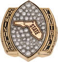 Football Collectibles:Others, 2015 Chick-fil-A Peach Bowl Participation Ring Presented to Wide Receiver Nyqwan Murray....