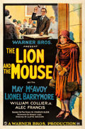 "Movie Posters:Drama, The Lion and the Mouse (Warner Bros., 1928). Fine+ on Linen. One Sheet (27"" X 41.25"").. ..."