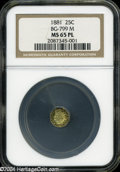 California Fractional Gold: , 1881 25C Indian Octagonal 25 Cents, BG-799M, Low R.5, MS65Prooflike NGC....