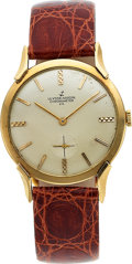 "Timepieces:Wristwatch, Ulysse Nardin ""Chronometer Co."" 14k Gold Watch. ..."