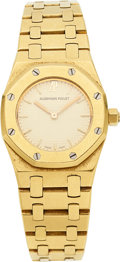 Timepieces:Wristwatch, Audemars Piguet Lady's 18k Yellow Gold Royal Oak. ...