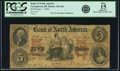 Georgetown, DC - Bank of North America $5 Sep. 1, 1852 DC-130 G8c PCGS Apparent Fine 15