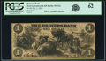 Fort Leavenworth, KS - Drovers Bank $1 July 1, 1856 KS-30 G2a, Whitfield 115 PCGS New 62