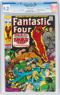 Fantastic Four #100 Western Penn Pedigree (Marvel, 1970) CGC NM- 9.2 Off-white pages