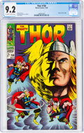 Silver Age (1956-1969):Superhero, Thor #158 (Marvel, 1968) CGC NM- 9.2 Off-white to white pages....