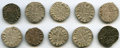 "Crusader States, Crusader States: Principality of Antioch 10-Piece Lot of Uncertified Bohemond Era ""Helmet"" Deniers ND (1163-1201) VF,... (Total: 10 coins)"