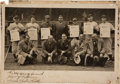 Baseball Collectibles:Others, 1937 Babe Ruth Signed Photograph--Only Posed Photo of Ruth, Gehrig & DiMaggio together.. ...