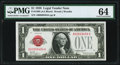 Fr. 1500 $1 1928 Legal Tender Note. PMG Choice Uncirculated 64