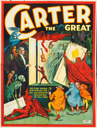 """Carter the Great Eight Sheet """"Spirit Cabinet"""" Show Poster (Otis Litho, 1926).... (Total: 4 Items)"""