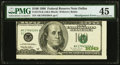 Error Notes:Miscellaneous Errors, Misaligned Face Printing Error Fr. 2175-K $100 1996 Federal Reserve Note. PMG Choice Extremely Fine 45.. ...