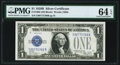 Small Size:Silver Certificates, Fr. 1602 $1 1928B Silver Certificate. PMG Choice Uncirculated 64 EPQ.. ...