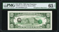 Error Notes:Third Printing on Reverse, Overprint on Back Fr. 2024-L $10 1977A Federal Reserve Note. PMG Gem Uncirculated 65 EPQ.. ...