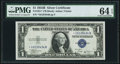 Small Size:Silver Certificates, Fr. 1611* $1 1935B Silver Certificate Star. PMG Choice Uncirculated 64 EPQ.. ...