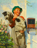 Paintings, Joseph Francis Kernan (American, 1878-1958). Boy and his Dog, This Week cover, September 6, 1936. Oil on canvas. 30 x 24...