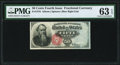 Fr. 1376 50¢ Fourth Issue Stanton PMG Choice Uncirculated 63 EPQ