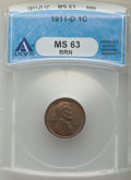 Lincoln Cents: , 1911-D 1C MS63 Brown ANACS. CDN: $110 Whsle. Bid for problem-free NGC/PCGS MS63. Mintage 12,672,000. ...