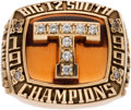 Football Collectibles:Others, 1999 University of Texas Longhorns Big 12 South Championship Ring Presented to Montrell Flowers....