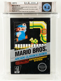 Mario Bros. [Gloss Sticker] Wata 9.2 CIB (Complete in Box) NES, Nintendo, 1986, USA