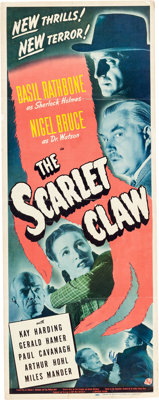 The Scarlet Claw Sherlock Holmes Insert Movie Poster (Universal, 1944)