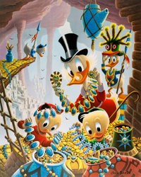 Carl Barks First National Bank of Cibola Signed Limited Edition Lithograph Print #4/345 (Another Rainbow, 1987)