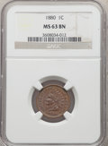 1880 1C MS63 Brown NGC. NGC Census: (74/156). PCGS Population: (90/132). CDN: $75 Whsle. Bid for problem-free NGC/PCGS M...