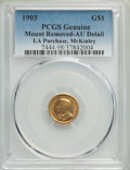1903 G$1 Louisiana Purchase, McKinley Gold Dollar -- Mount Removed -- PCGS Genuine. AU Details. NGC Census: (2/2114). PC...