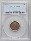 1914-D 1C VF30 PCGS. PCGS Population: (759/2419). NGC Census: (361/1263). CDN: $250 Whsle. Bid for problem-free NGC/PCGS...