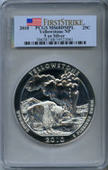 Modern Bullion Coins, 2010 25C Yellowstone Five Ounce Silver, First Strike MS68 Deep Mirror Prooflike PCGS. PCGS Population: (1590/1647). NGC Cen...