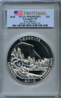 Modern Bullion Coins, 2010 25C Yosemite Five Ounce Silver, First Strike MS68 Deep Mirror Prooflike PCGS. PCGS Population: (1499/2223). NGC Census...