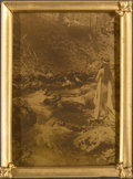Photographs:Orotone, Edward Sheriff Curtis (American, 1868-1952). Maid of Dreams, circa 1909. Orotone. 3-3/4 x 2-5/8 inches (9.5 x 6.7 cm). S...