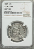 Seated Half Dollars, 1887 50C -- Cleaned -- NGC Details. XF. NGC Census: (4/90). PCGS Population: (10/135). CDN: $650 Whsle. Bid for problem-fre...
