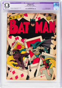 Batman #11 (DC, 1942) CGC Apparent FR/GD 1.5 Slight (C-1) Off-white to white pages