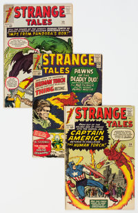 Strange Tales Group of 9 (Marvel, 1963-66) Condition: Average VG.... (Total: 9 Comic Books)