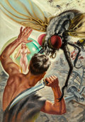 Paintings, Earle K. Bergey (American, 1901-1952). The Sleeper is a Rebel, Thrilling Wonder Stories cover, February 1948. Oil on can...