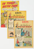 Golden Age (1938-1955):Miscellaneous, Peter Wheat Group of 4 (Bakers Associates, 1949-52) Condition: Average FN/VF.... (Total: 4 Comic Books)