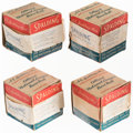 Baseball Collectibles:Balls, 1952-57 Official National League (Giles) Baseball Lot of 4 with Boxes.... (Total: 4 items)