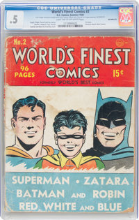 World's Finest Comics #2 Incomplete (DC, 1941) CGC PR 0.5 Light tan to off-white pages