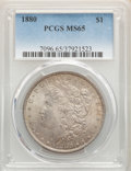 Morgan Dollars: , 1880 $1 MS65 PCGS. PCGS Population: (1301/211). NGC Census: (700/40). CDN: $425 Whsle. Bid for problem-free NGC/PCGS MS65. ...