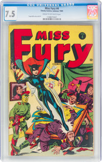 Miss Fury #4 (Timely, 1944) CGC VF- 7.5 Cream to off-white pages