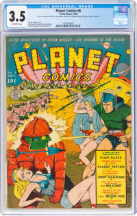 Planet Comics #8 (Fiction House, 1940) CGC VG- 3.5 Off-white pages